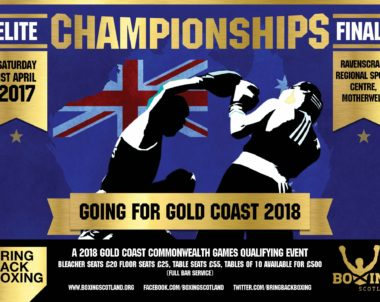 2017 Boxing Scotland Elite Finals – Finalised running order